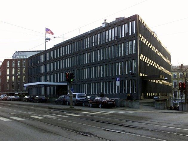 Budova velvyslanectví USA v norském Oslu.