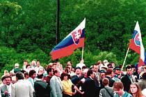 Osada U Sabotů se po přiřazení ke Slovensku v roce 1997 přejmenovala na Šanci.
