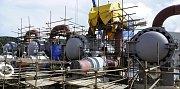 Stavba hraniční předávací stanice mezi německým plynovodem Opal a chystaným plynovodem Gazela v ČR v Brandově na Mostecku. Gazela rozšiřuje možnosti zásobování České republiky i jiných evropských států zemním plynem.