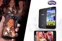 Mobilní telefony BenQ T3 a F5.