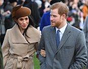 Princ Harry and Meghan Markleová navštívili o Vánocích kostel Máří Magdaleny v Sandringhamu