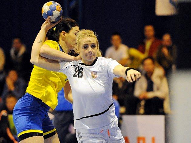 Markéta Jeřábková v zápase na Ukrajině