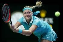 Petra Kvitová v prvním zápase na Turnaji mistryň