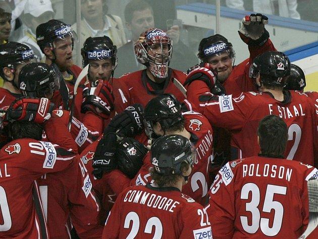 Radost hokejistů Kanady.