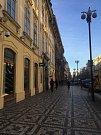 Ulice Na Příkopě v Praze.