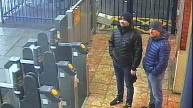 Alexander Petrov a Ruslan Boširov na záběrech bezpečnostních kamer