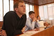 David Ondráčka (vlevo) z Transparency International