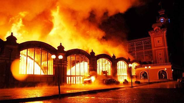 Požár průmyslového paláce