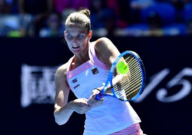 Karolína Plíšková ve čtvrtfinále Australian Open.