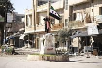 Tureckem podporovaní rebelové v syrském městě Sarákib v provincii Idlib.