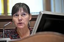 Předsedkyně sněmovního rozpočtového výboru Miloslava Vostrá (KSČM) na jednání výboru v Praze.
