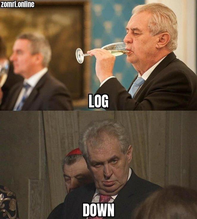Vtipy na Miloše Zemana představují vděčnou stálici