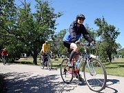 Práce na nové cyklostezce z Přáslavic