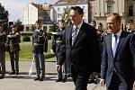 Premiér Petr Nečas přivítal 15. července v Praze svého polského protějška Donalda Tuska