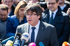 Carles Puigdemont po propuštění z vazby
