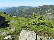 Číslo 13: Výhled z Červené hory v Jeseníkách