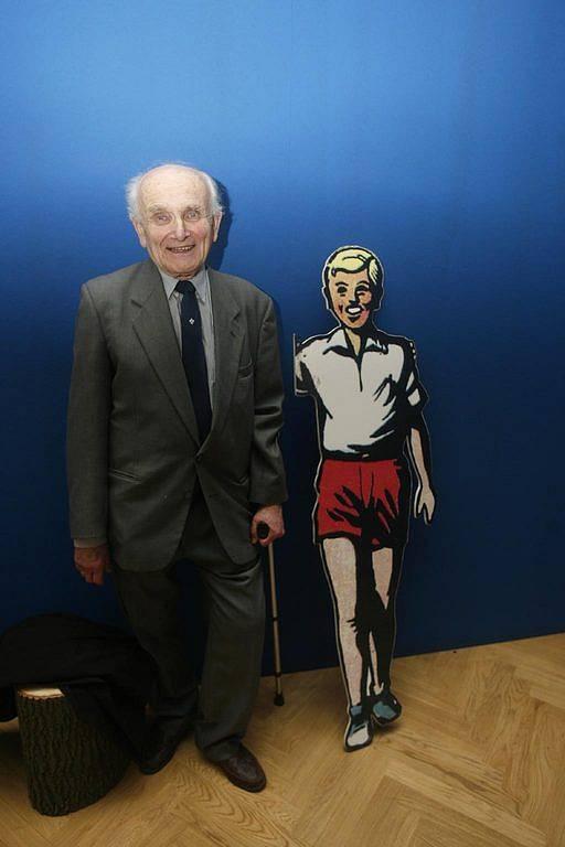 Reálný Jindra Hojer s postavou, kterou vytvořil Jaroslav Foglar.