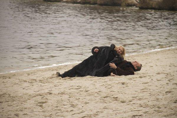 TAK AKORÁT. Poslední klapky si užila zpěvačka sMichalem Pavlíčkem na Máchově jezeře.