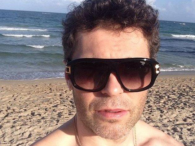 Jaromír Jágr se vydal na Floridě k oceánu.