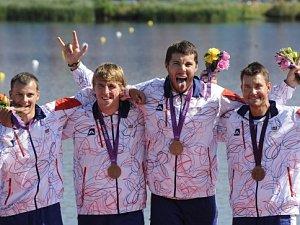 Čtyřkajak Daniel Havel, Lukáš Trefil, Josef Dostál a Jan Štěrba vybojoval bronzovou medaili.