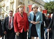 Německá kancléřka Angela Merkelová a britská premiérka Theresa Mayová.