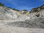 Kráter Solfarata ve Flegrejských polích u Neapole