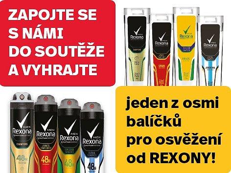 Soutěž o balíčky pro osvěžení REXONA.