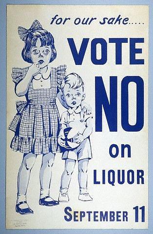 Anglická dobová kampaň proti pití alkoholu