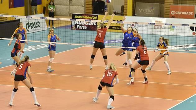 Final Four Českého poháru volejbalistek, finálový zápas: Olomouc - Olymp Praha, 9. února 2020 v Brně.