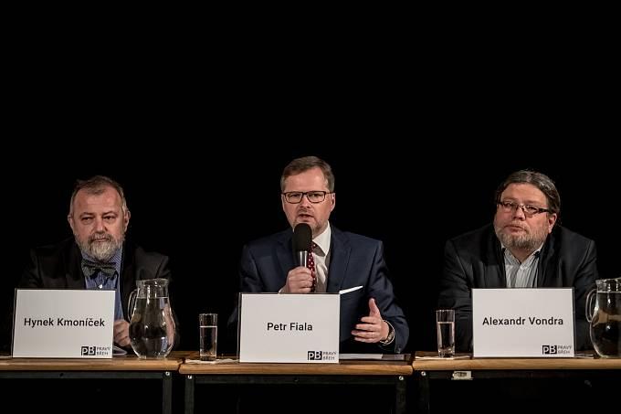 Hynek Kmoníček, Petr Fiala, Alexandr Vondra