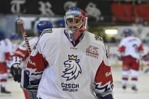 Brankář hokejistů České republiky Patrik Bartošák