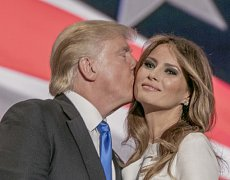 Donald Trump se svou ženou Melanií