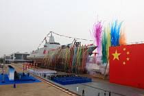 Představení nového čínského torpédoborce