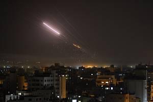 Rakety vypálené na Izrael