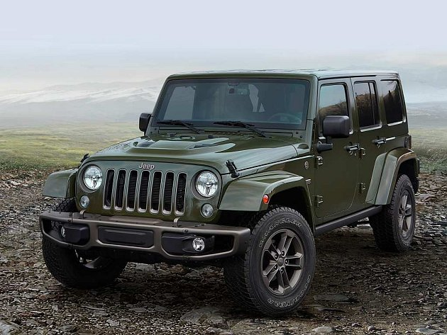 Jeep Wrangler Unlimited 75th Anniversary Edition.