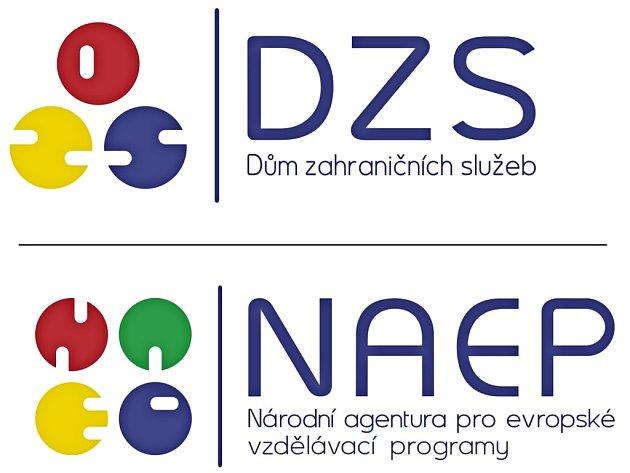 Loga: Dům zahraničních služeb, Národní agentura pro evropské vzdělávací programy.