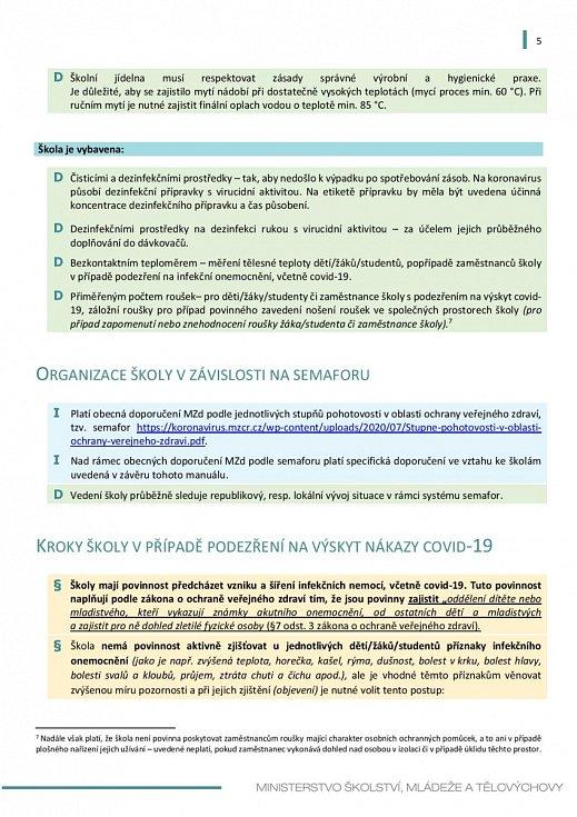 Manuál pro výuku na školách v době koronaviru - strana 5