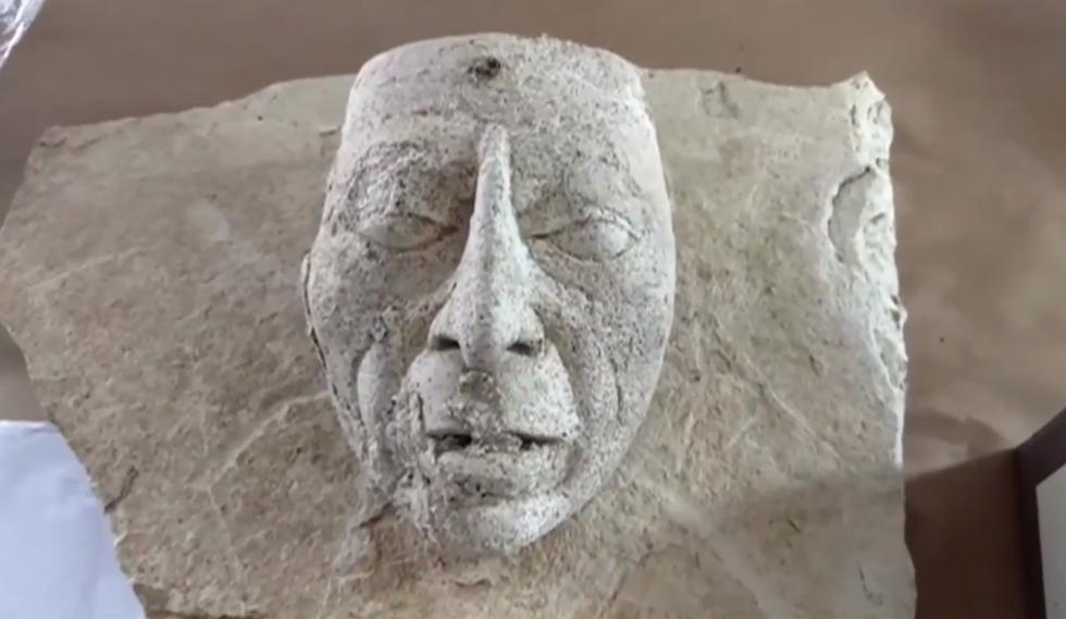 Rituální maska s podobiznou krále Pakala Velikého
