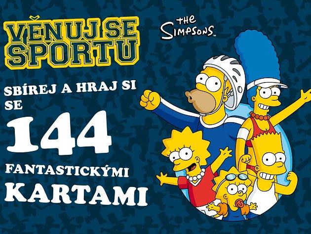 Projekt Věnuj se sportu se známou zábavnou rodinkou Simpsonových.