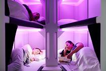 Postel v ekonomické třídě. Air New Zealand představil nový koncept pro dlouhé lety