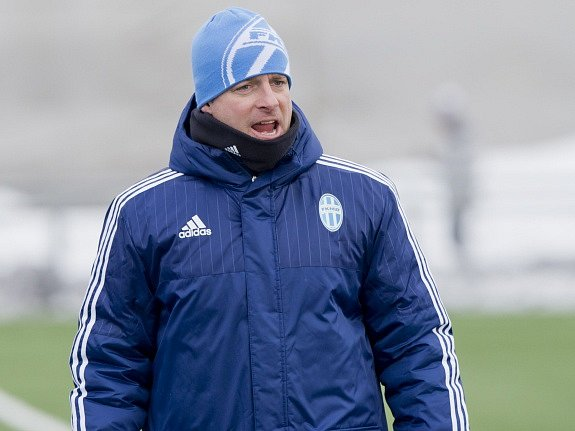 Trenér Boleslavi Martin Svědík.