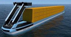 Nákladní loď na elektřinu, první na světě.