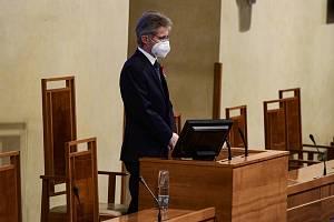 Předseda Senátu Miloš Vystrčil (ODS) na ustavující schůzi horní komory v novém funkčním období 11. listopadu 2020 v Praze