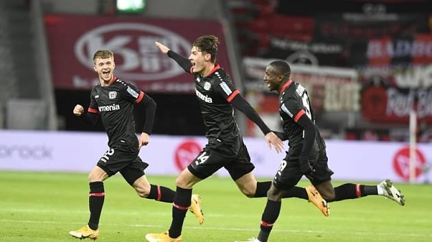 Patrik Schick a jeho radost z gólu.