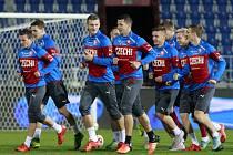 Příprava na zápas: Trénink českého týmu