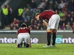 Sparta - Villarreal: Smutek. Hráči v rudém končí v Evropské lize