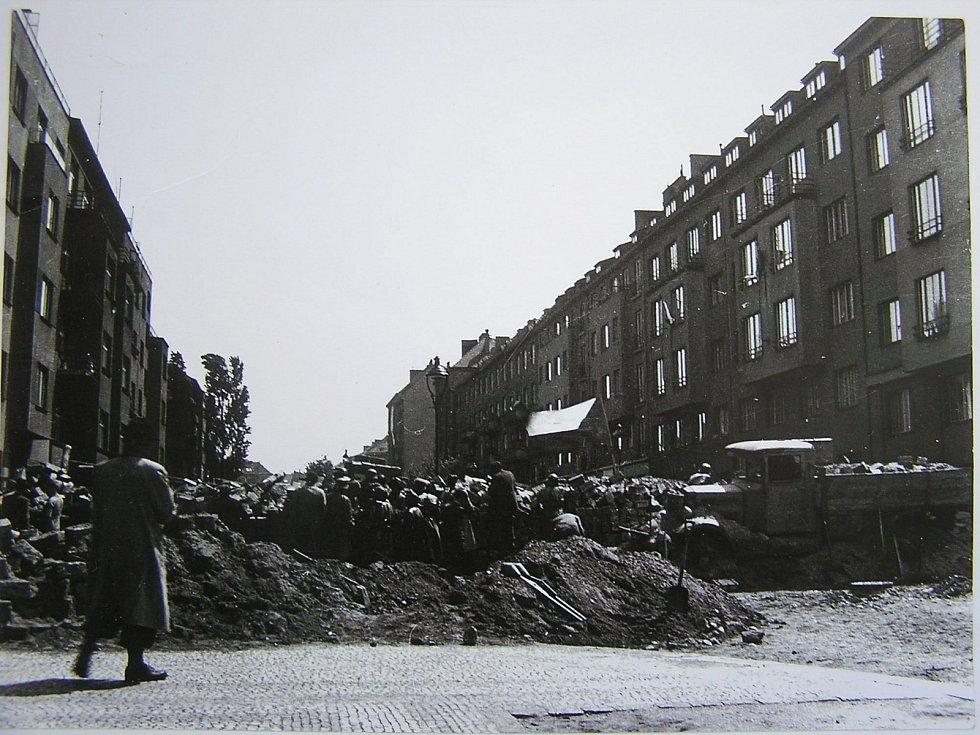 Pražské povstání, barikáda na Terronské ulici