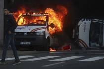 Demonstrace žlutých vest v belgickém Bruselu