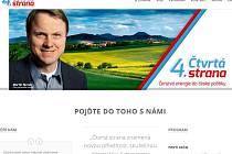 Na internetu se objevila webová stránka, která se snaží vyvolat dojem, že expředseda Strany zelených Martin Bursík zakládá nové politické uskupení.