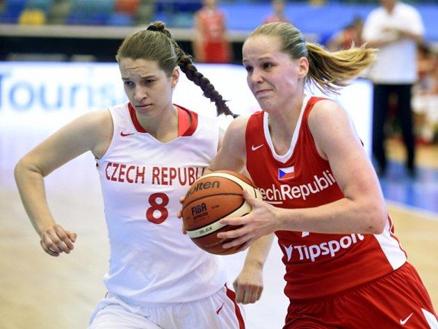 Lenka Soukalová (vlevo) a Alena Hanušová.